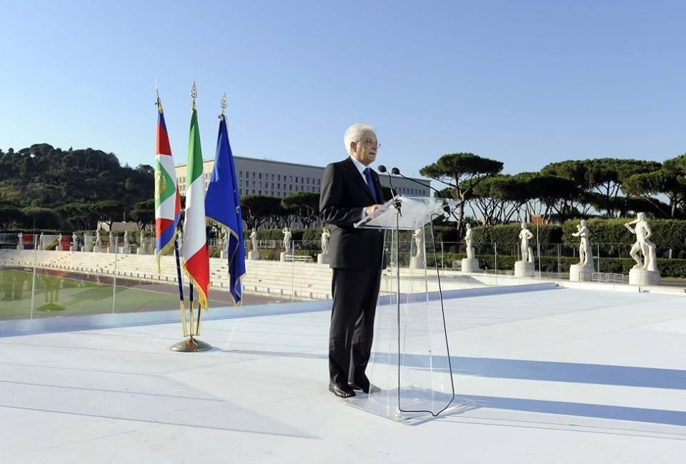 Il Presidente Sergio Mattarella: garantire lo sport a tutti